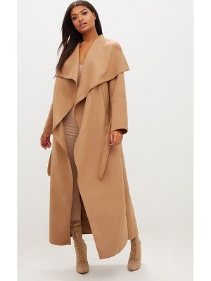 PrettyLittleThing maxi length oversized waterfall belted coat