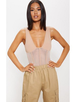 PrettyLittleThing mesh detail caged bodysuit