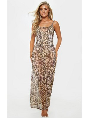 PrettyLittleThing mesh maxi beach dress