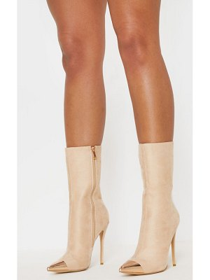 PrettyLittleThing metal toe high point ankle boot