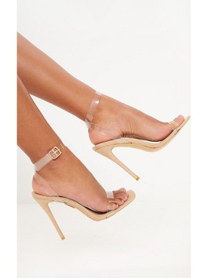 PrettyLittleThing micro square toe clear strappy sandal