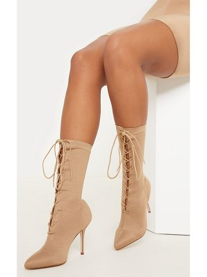 PrettyLittleThing mid heel lace up ankle boot