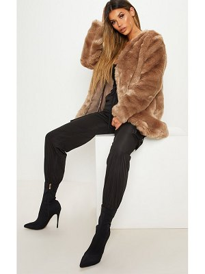 PrettyLittleThing midi faux fur coat