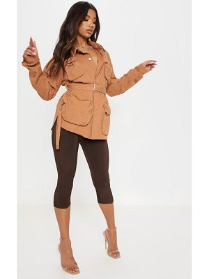 PrettyLittleThing military pencil pocket denim jacket