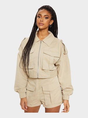 PrettyLittleThing military style cropped jacket