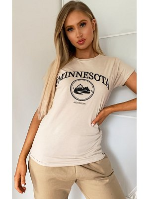PrettyLittleThing minnesota printed fitted t shirt