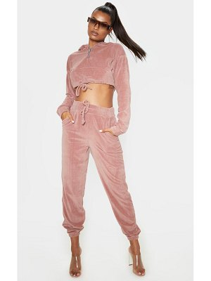 PrettyLittleThing mix & match velour jogger
