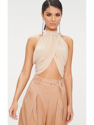 PrettyLittleThing neck wrap crop top