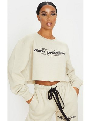 PrettyLittleThing new season slogan cropped sweater