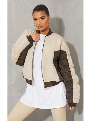 PrettyLittleThing nylon contrast cropped bomber