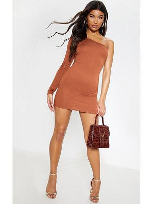 PrettyLittleThing one shoulder long sleeve bodycon dress