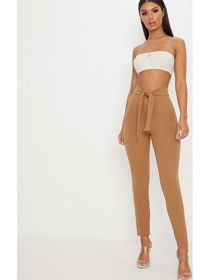 PrettyLittleThing open front tie waist pants