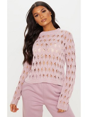PrettyLittleThing open knit ladder detail jumper