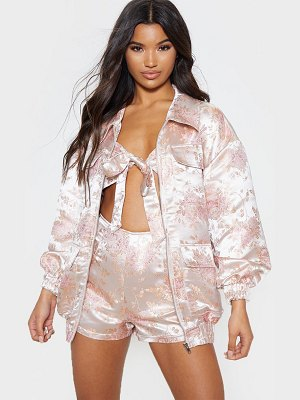 PrettyLittleThing oriental embroidered bomber