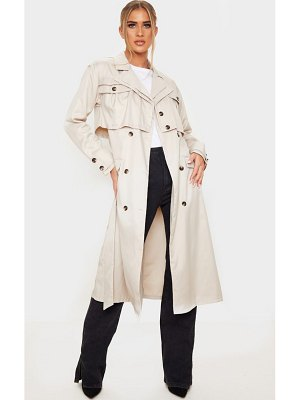 PrettyLittleThing oversized belted trench coat