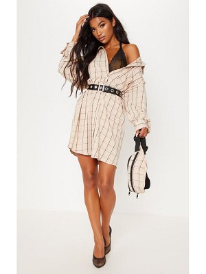 PrettyLittleThing oversized boyfriend shirt dress