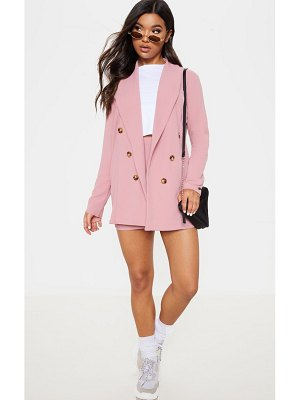 PrettyLittleThing oversized button detail blazer