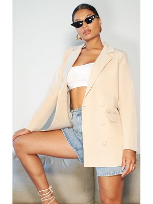 PrettyLittleThing oversized double breasted covered button blazer
