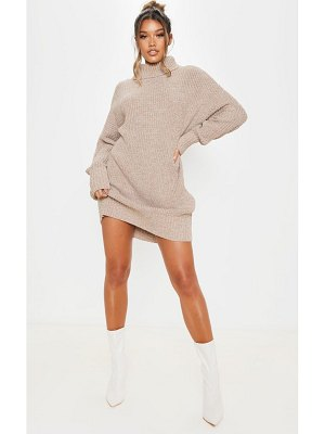 PrettyLittleThing oversized high neck knitted sweater dress