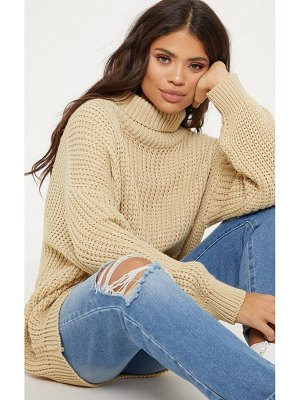 PrettyLittleThing oversized high neck knitted sweater