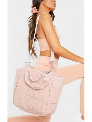 PrettyLittleThing oversized quilted tote bag