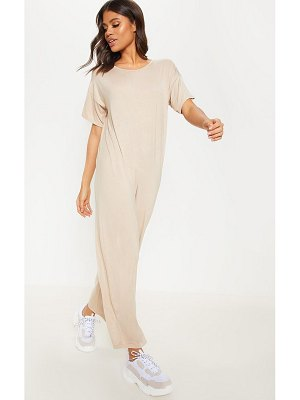 PrettyLittleThing oversized t shirt culotte jumpsuit