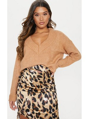 PrettyLittleThing oversized v neck jumper