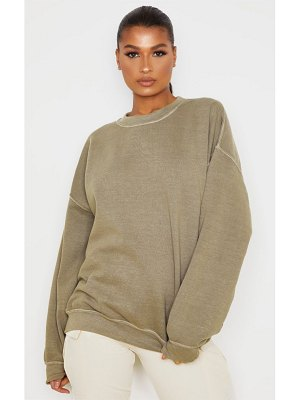 PrettyLittleThing oversized washed sweater