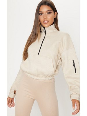 PrettyLittleThing oversized zip front sweater