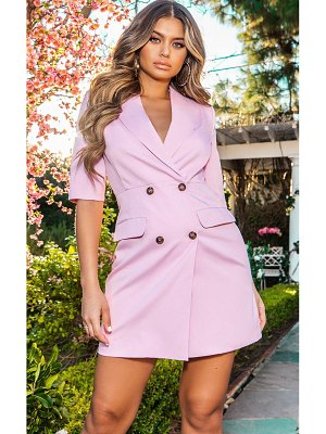PrettyLittleThing pale pink 3/4 sleeve blazer dress