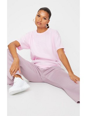 PrettyLittleThing pale pink oversized t shirt