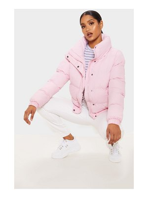 PrettyLittleThing pale pink puffer jacket