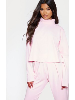 PrettyLittleThing pastel pink high neck long sleeve sweater