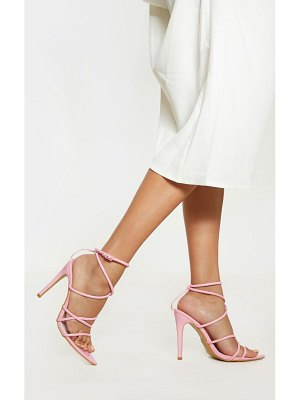 PrettyLittleThing pastel pink tube strappy point toe sandal