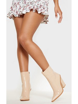 PrettyLittleThing patent western ankle boot