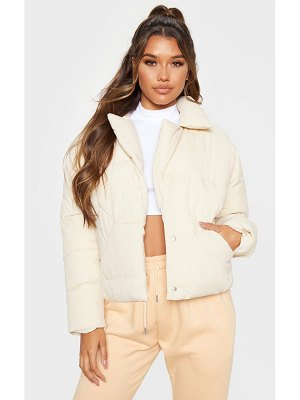 PrettyLittleThing peached oversized cropped puffer