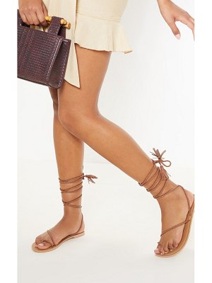 PrettyLittleThing leather plaited rope sandal