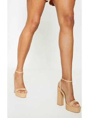 PrettyLittleThing platform high strappy sandal