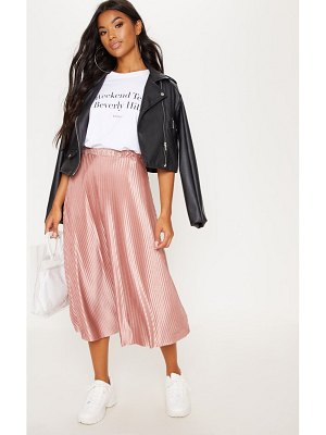 PrettyLittleThing pleated full midi skirt