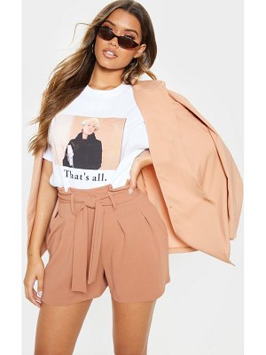 PrettyLittleThing pleated waistband tie waist short