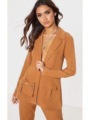 PrettyLittleThing pocket detail woven blazer