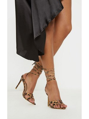 PrettyLittleThing point ring detail lace up sandal