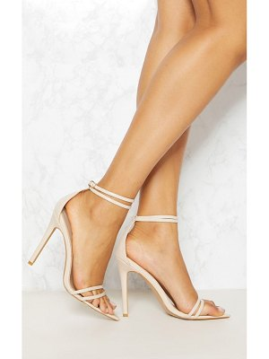 PrettyLittleThing point toe barely there sandal