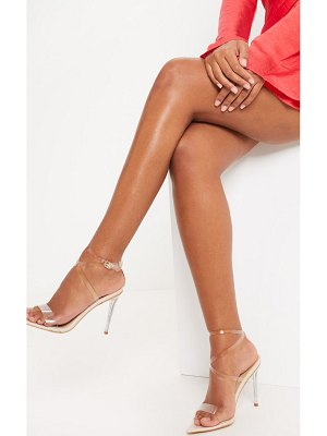 PrettyLittleThing point toe clear strappy sandal