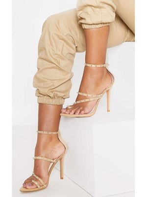 PrettyLittleThing point toe loop studded sandals