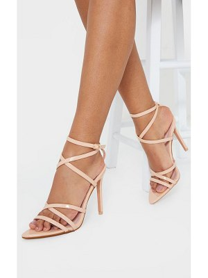 PrettyLittleThing point toe strappy ankle strap high heel