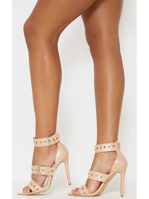 PrettyLittleThing point toe triple buckle sandal