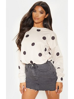 PrettyLittleThing polka dot printed oversized sweater