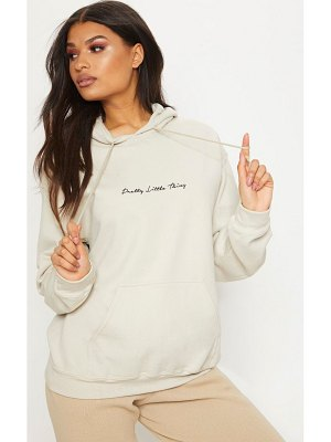 PrettyLittleThing embroidered oversized hoodie