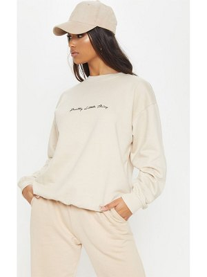 PrettyLittleThing embroidered oversized sweater